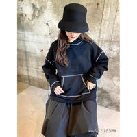 stitch hoodie【St010-BLK】
