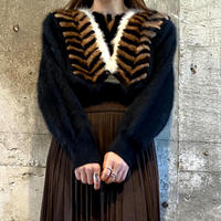 mohair × leather knit  [Vk063]