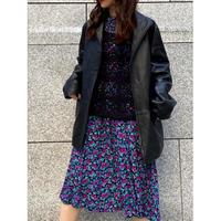 leather jacket coat [Vo040]