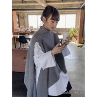 asymmetry knit【St011-GRY】