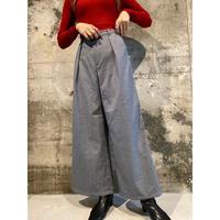 check wide pants [Vp126]
