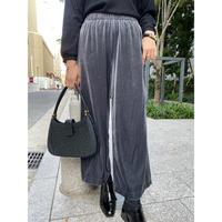 wide velours pants  [Vp112]