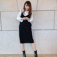 frill blouse knit one-piece