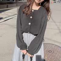 front button blouse