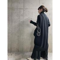 bottleneck knit one-piece -black-【Sd002-BLK】