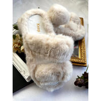 select fur boa room shoes [Si075]