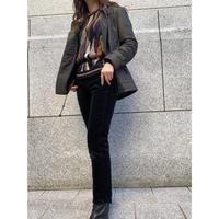 black corduroy pants  [Vp107]