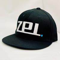 フラットビルキャップ ZPI刺繍 ブラック