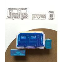 世界にひとつの手作りハンコ付応援チケット(バス編)