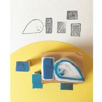 世界にひとつの手作りハンコ付応援チケット(はーい編)