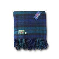 Tweedmill ツイードミル Traditional tartan throw 70x183 blackwatch