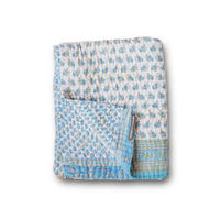 Jeanette farrier baby kantha ジャネットファリア ベビーカンタ light blue