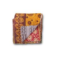 en fil d'Indienne マルチキルトカバー Antique Kantha D 125x210