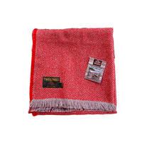 Tweedmill ツイードミル crosshatch check recycle rug 120x150 red
