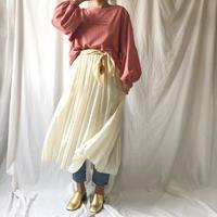 WHOO-AA・プリーツレーヨンスカート(W9S5000)