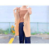 WHOO-AA・Short Sleeve Topper  Cardigan(W9S6016)