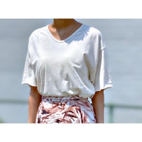 ZURI・Cut Off 3/4 Length Sleeve T Shirt(0S42001H)