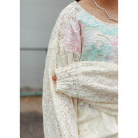 Manic Monday・Cutwork Neck Knit・¥10780(9P62002E)