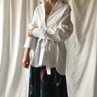 ZURI・ベルト付きコットンシャツ(8P41001H)