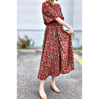 WHOO-AA・Back Triangle Flower Dress(W9S3035)