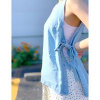 ZURI・Side Ribbon Denim Top・¥7590(9S42047F)