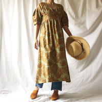 Manic Monday・Leafy Linen Dress(9S63006E)