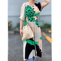 DAZZLE・Print Cache Coeur Long Dress(0S33006E)
