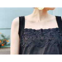 BAD・Embroidery Cami(0S12004E)