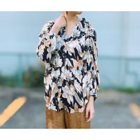 DAZZLE・Flower Print  Shirring TOP・¥9790(9P32001H)