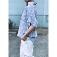 WHOO-AA・Skipper Strip Bluse(W0S2004H)