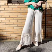 DAZZLE・Cutwork Long Wide Pants(0S34003E)