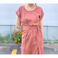 DAZZLE・Linen Cotton Waist Ribbon Dress