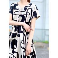 Manic Monday・Print Linen Dress(0S63000E)