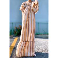 IMPORT・Stripe Off shoulder dress(ZL8SP-13131828)