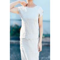 DAZZLE・Linen Cotton Embroidery 2way Top(0S32003E)