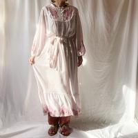 DAZZLE・Dot×Embroidery Long Dress(8P33001E)