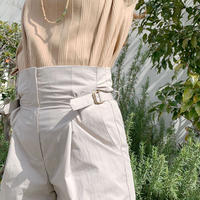 DAZZLE・Side belt high waist pants(0S34001J)
