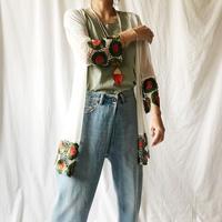 WHOO-AA・ヘム刺繍薄手カーディガン(W9S6005)