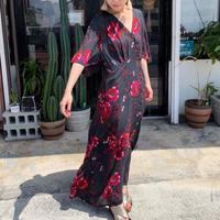 DAZZLE・Flower カシュクール風 Long Dress(9S33014E)