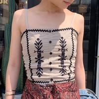ZURIsol・刺繍ビスチェ