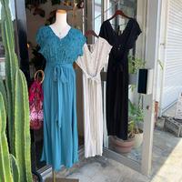 DAZZLE・Cutwork Waist Ribbon Dress・(0S33015E)