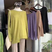 DAZZLE・Defomation Knit Top(0W32017o)