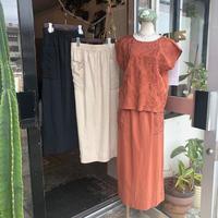 DAZZLE・Linen Cotton Embroidery Skirt(0S35001E)