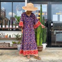 WHOO-AA・Floral Pattern Dress(W0S3022)