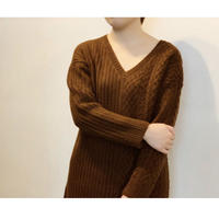 MANIC MONDAY ・Cable Rib Sweater(0W63014o)