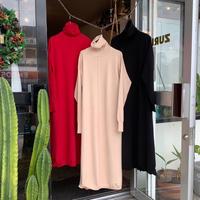 STEVIE・Turtleneck Long Knit Dress (0W23004o)