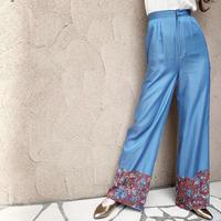 BAD・Flower Hem Combination Pants(0S14001H)