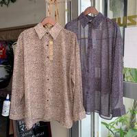 ZURI・ Leopard sheer blouse (0W41004H)