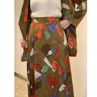 DAZZLE・Printed Darts Long Skirt(0W35005J)