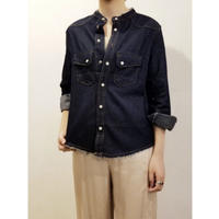 DAZZLE・No Collar Denim Shirts(0W37002G)